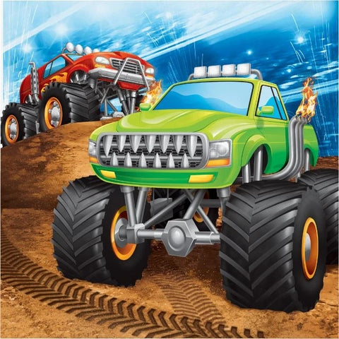 Monster Truck Rally Luncheon Napkins