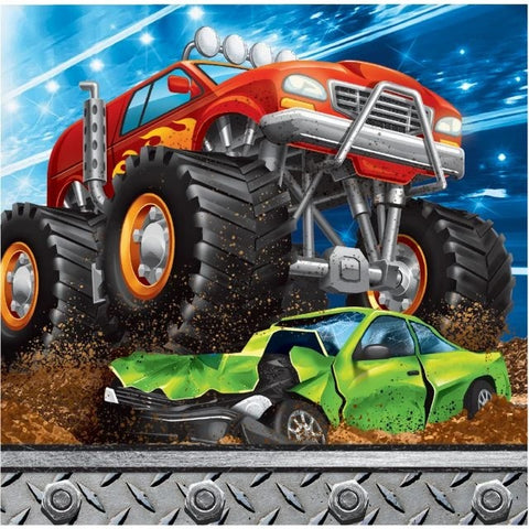 Monster Truck Rally Beverage Napkins