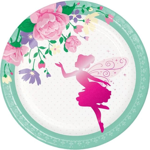 Floral Fairy Sparkle Luncheon Plate Foil Stamp
