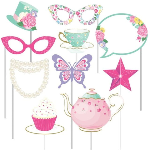 Floral Fairy Sparkle Photo Booth Props Assorted