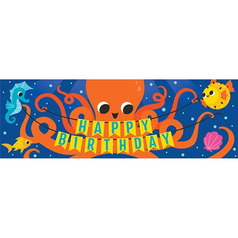 Ocean Celebration Giant Party Banner 20inx60in pc