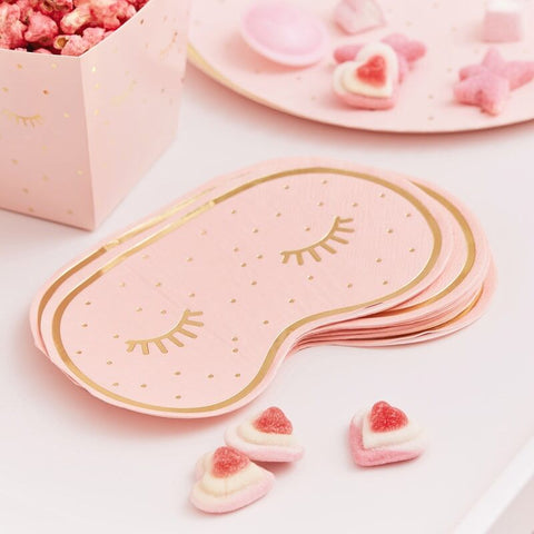 Gold Foiled Eye Mask Paper Napkins 16pcs