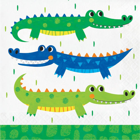 Alligator Party Luncheon Napkin 16pcs