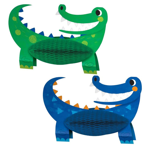 Alligator Party Centerpiece Shaped Honeycomb 2pcs