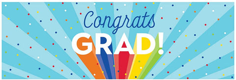 Rainbow Grad Giant Party Banner 20in X 60in  1 pc