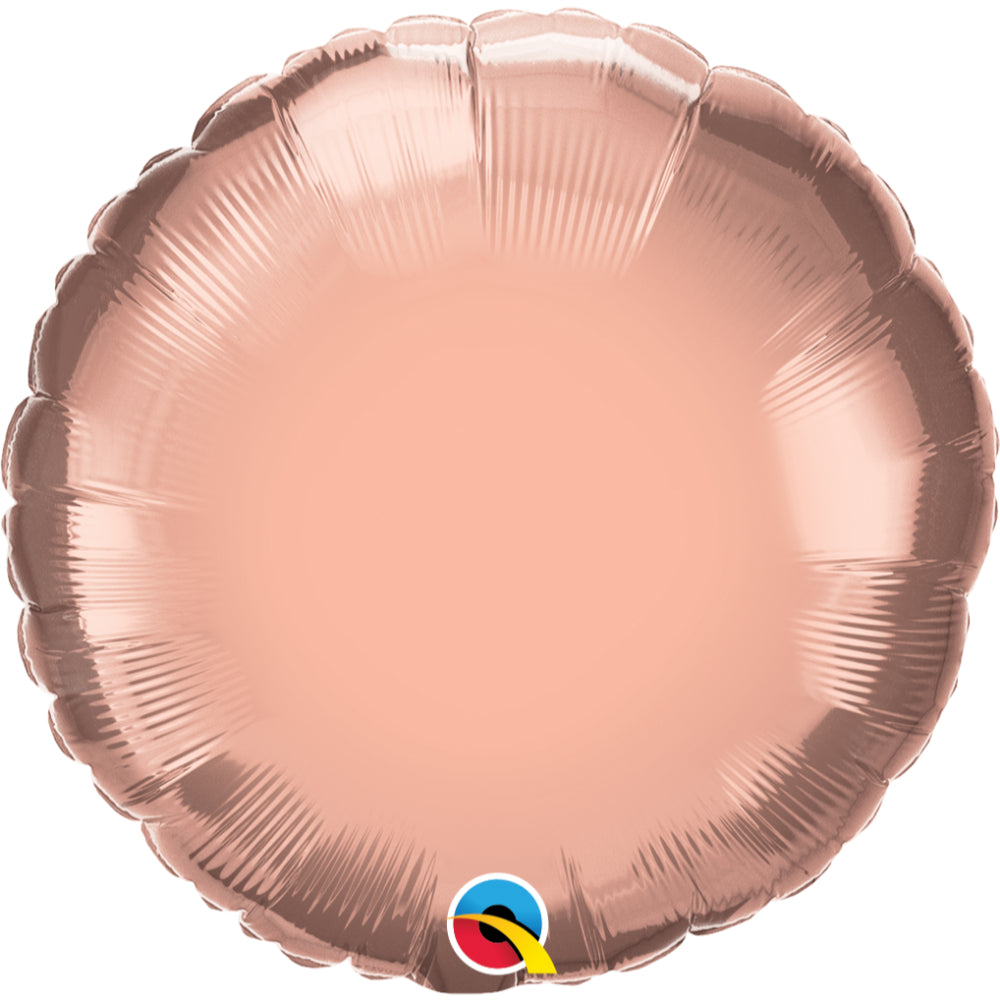 Round Rose  Plain Foil Balloon St