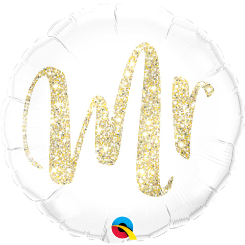 Mr. Glitter   Foil Balloon