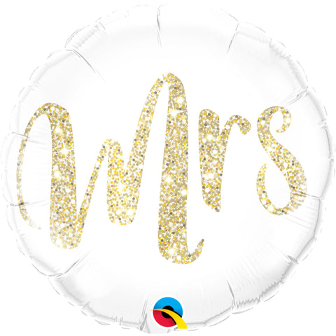Mrs. Glitter   Foil Balloon