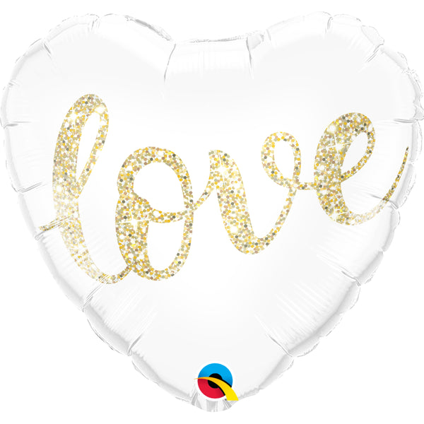 Love Glitter   Foil Balloon