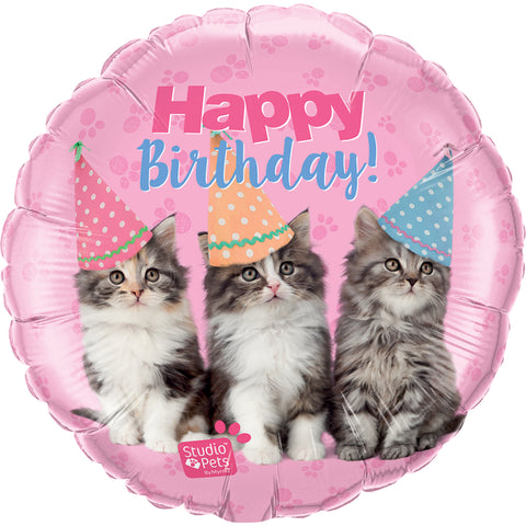 Studio Pets ‰ÛÒ Birthday Kittens  Foil Balloon