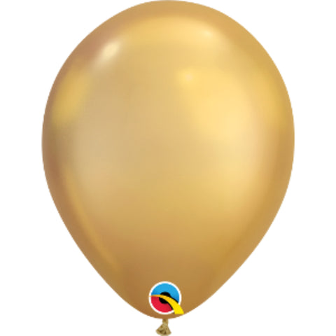 11in Chrome Gold Plain Balloon
