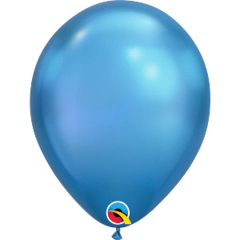 11in Chrome Blue Plain Balloon