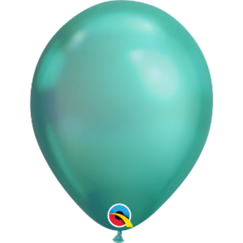 11in Chrome Green Plain Balloon
