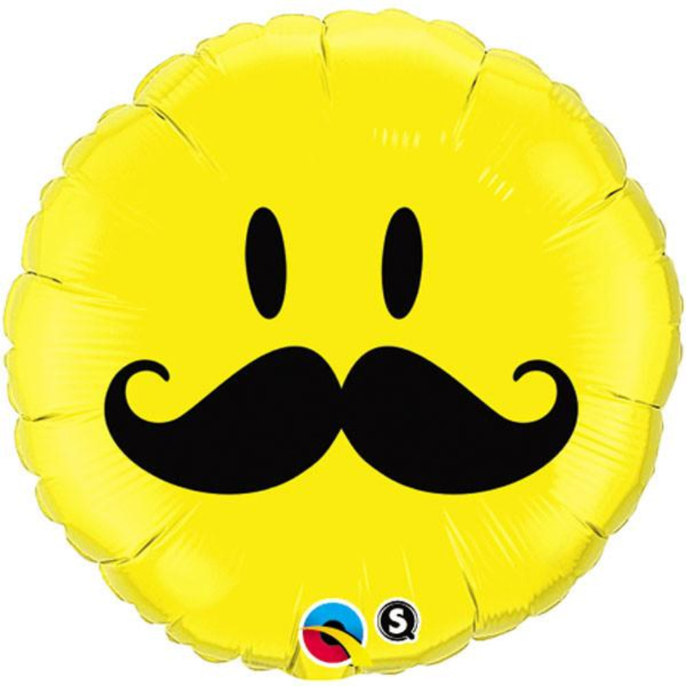 Smile Face Mostache  Foil Balloon