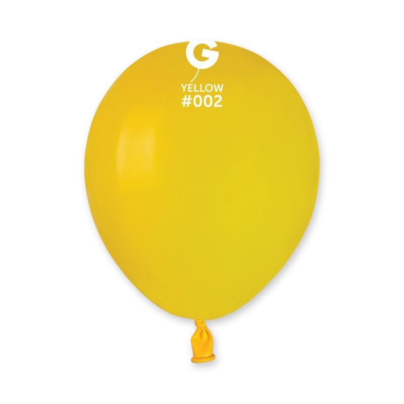 5in Round Yellow Latex Balloons