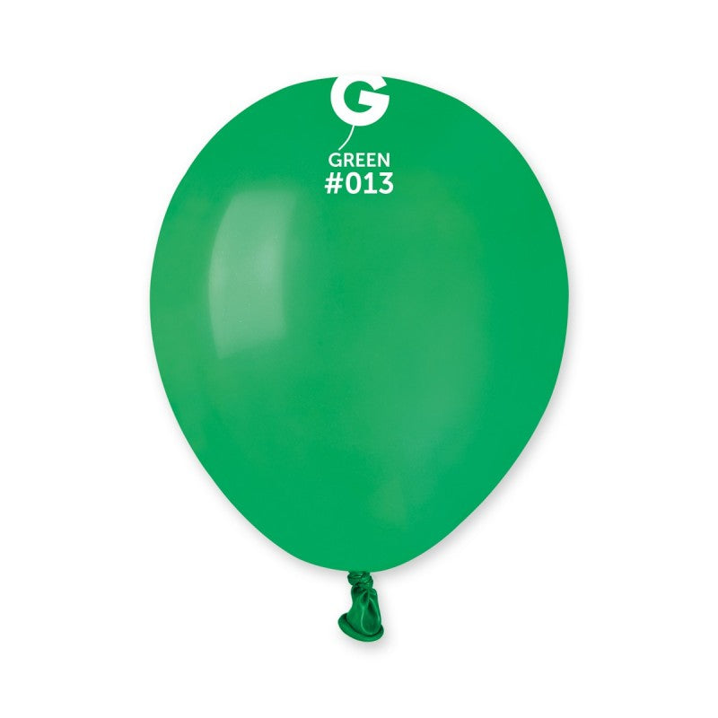 5in Round Green Latex Balloons