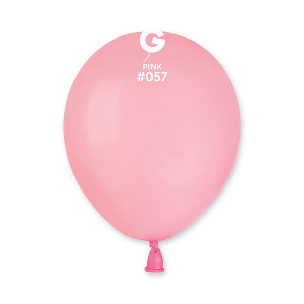 5in Round Pink Latex Balloons