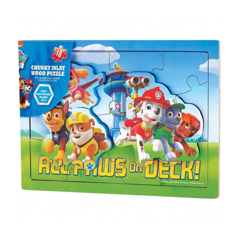 Puzzle Paw Patrol Wood Chunky Inlay