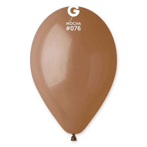 12in Standard Latex Mocha Brown Color Balloons 100 pieces