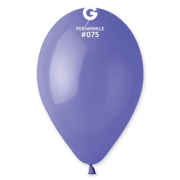 12in Standard Latex Periwinkle Color Balloons 100 pieces
