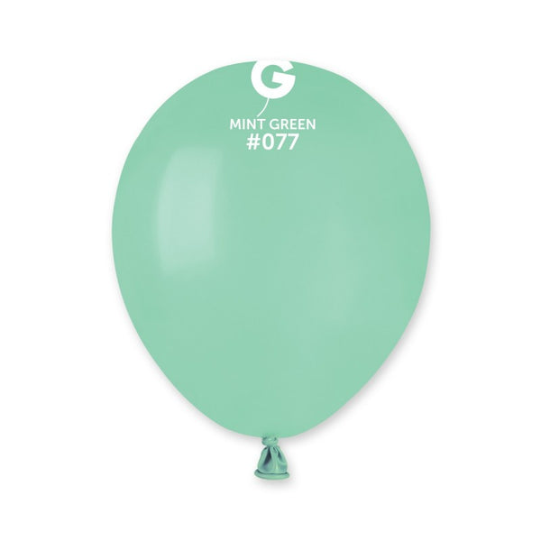 5in Standard Latex Mint Green Color Balloons 100 pieces
