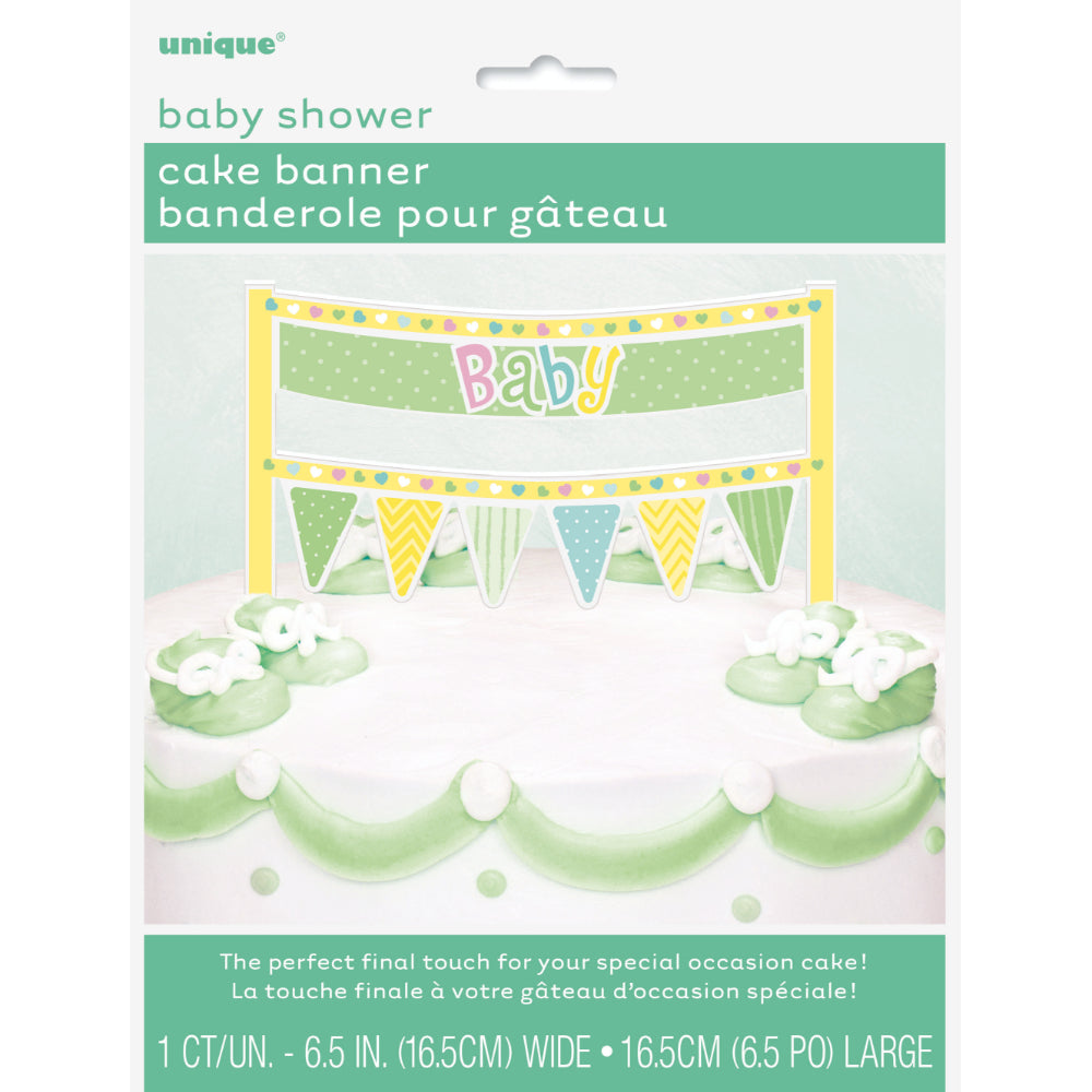 Cake Banners Dots Baby Shower