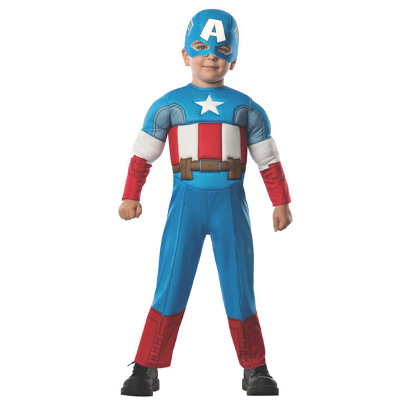 Deluxe Captain America Padded Jumpsuit And Headpiece Toddler
