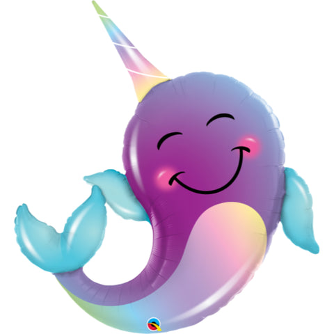 40in Party Narwhal Shape Foil Balloon