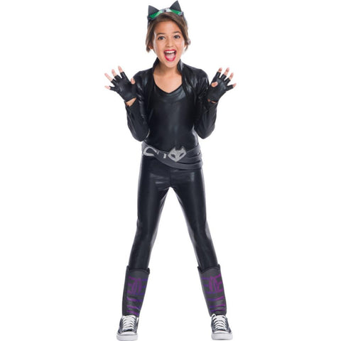 Deluxe Catwoman Girl Costume M