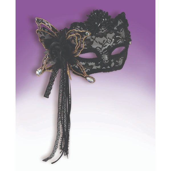 Fancy Mask With Black Lace Half Mask