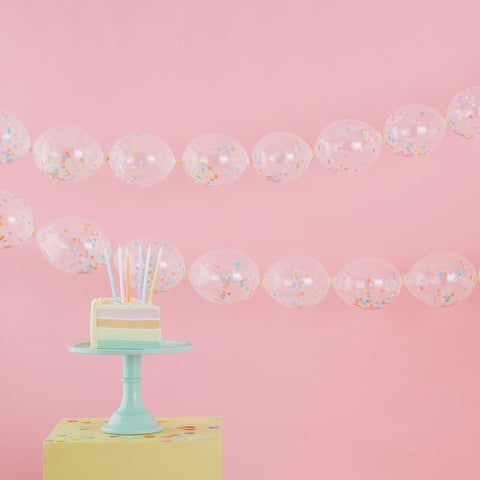 Confetti Link Balloon Garland Decoration