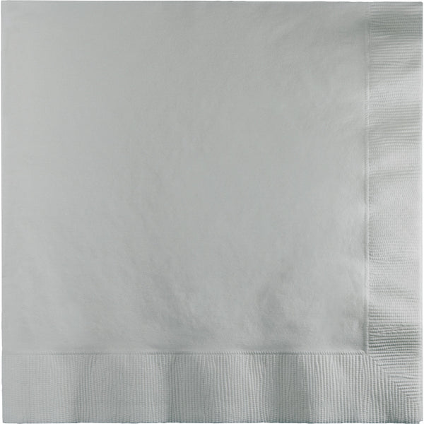 Touch Of Color Shimmering Silver Luncheon Napkins