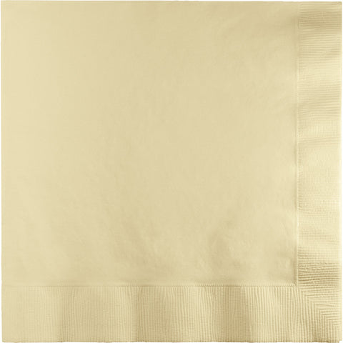 Touch Of Color Ivory Luncheon Napkins