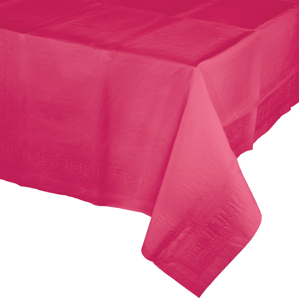 Touch Of Color Plastic Table Cover Hot Magenta