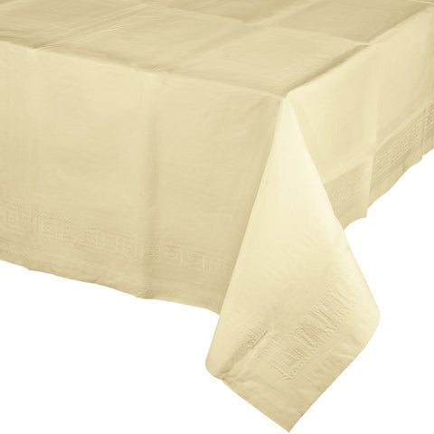 Touch Of Color Ivory Plastic Lined Tablecover