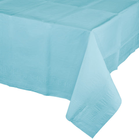 Touch Of Color Pastel Blue Plastic Lined Tablecover