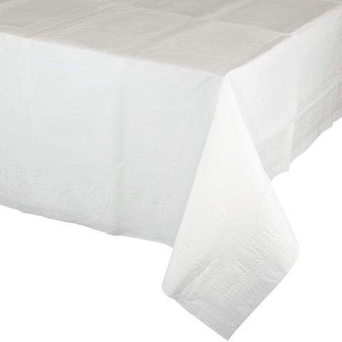 Touch Of Color White Plastic Lined Tablecover