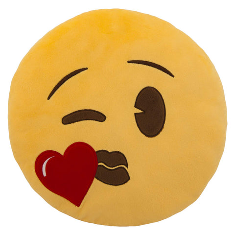 Emoji Pillow - Heart Kiss