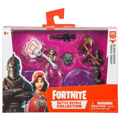 Fortnite s1 2in figure duo Black Knight & Triple Threat
