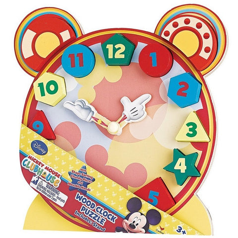 Puzzle DIS Mickey Mouse Wooden Chunky Clock