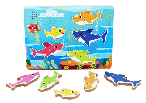 Puzzle Baby Shark Chunky Wood Sound Puzzle