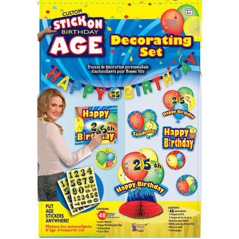Stick On Birthday Decorating Set