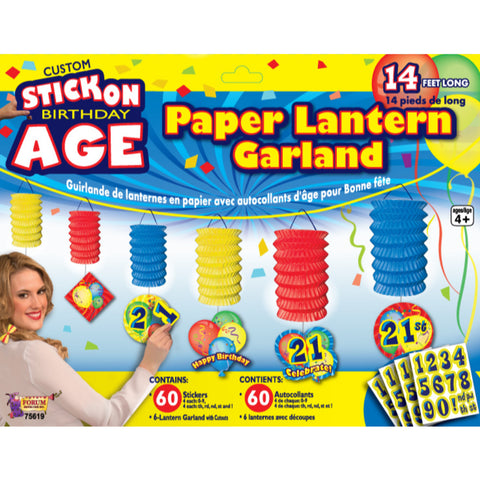 Stick On Birthday Garland Decorating Set