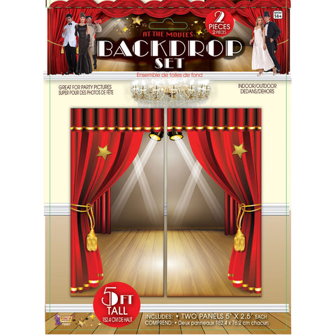 At The Movies Backdrop Wall Décor Set