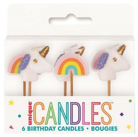 Unicorn & Rainbow Picks Candle
