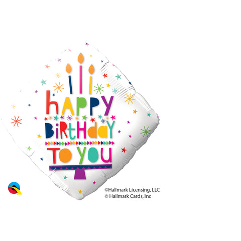 Happy Birthday To You Candles Foil Balloon