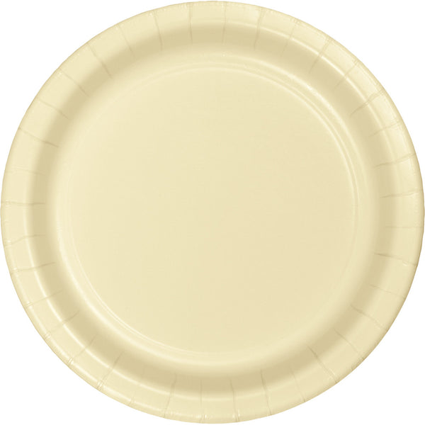 Touch Of Color Ivory Round Luncheon Plate