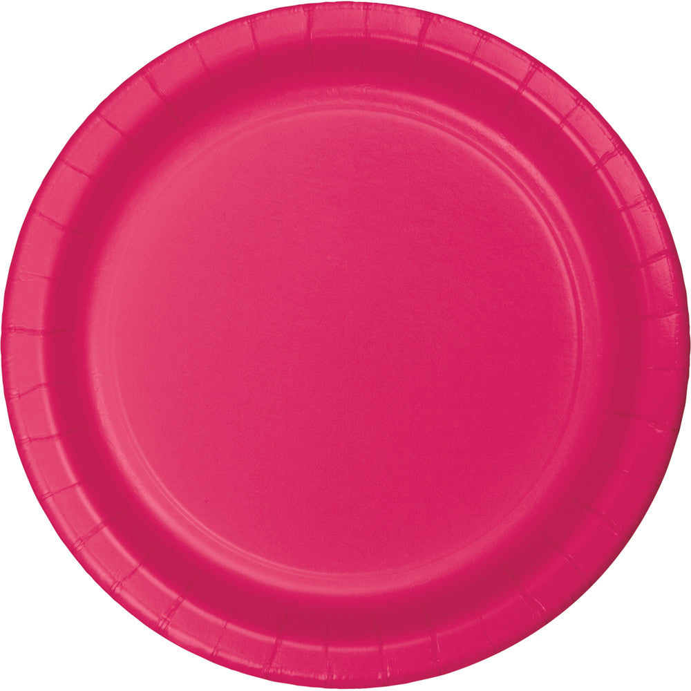 Touch Of Color Lunch Plate Hot Magenta