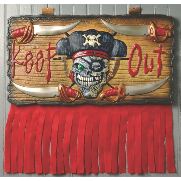 Keep Out Pirate Wall Plaque