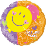 Getwel Soon-Smile Face Foil Balloon